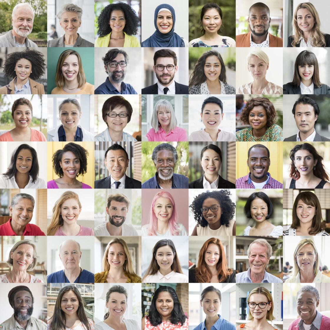 People of the world portraits – ethnic diversity