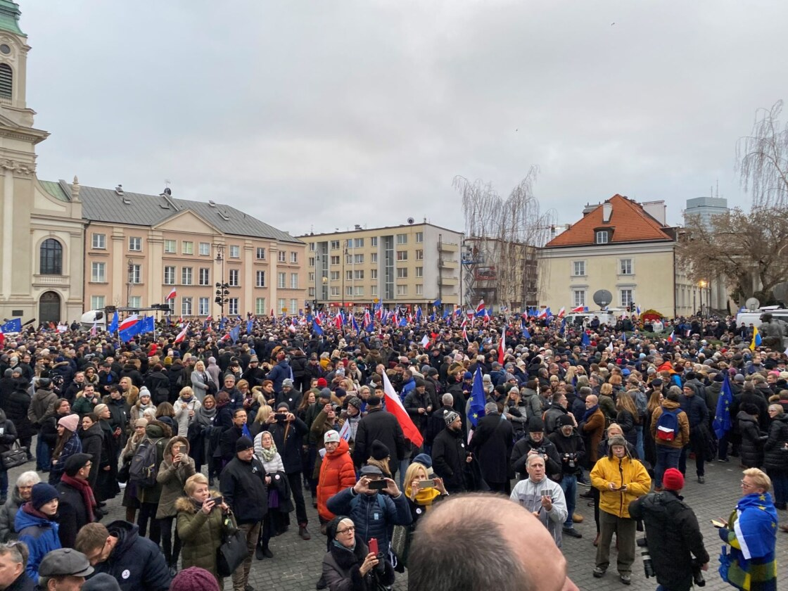 protest Polen plein