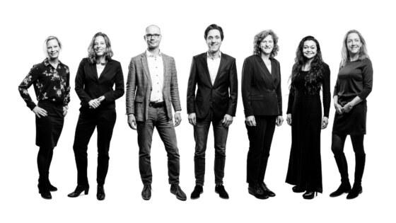 Jubileum teamfoto Gelijk advocaten 2