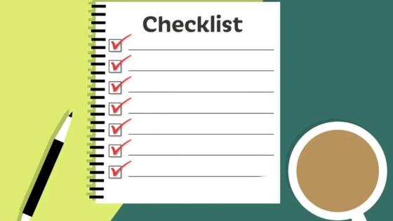 checklist, steekproef